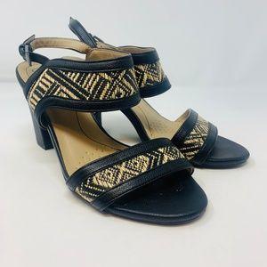 LifeStride | LUNA Faux Black Leather Sandals 6.5
